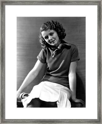 Janet Gaynor, Fox Film Corp, 1931 Framed Print by Everett