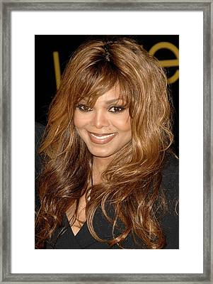 Janet Jackson At Arrivals For Cartier Framed Print by Everett