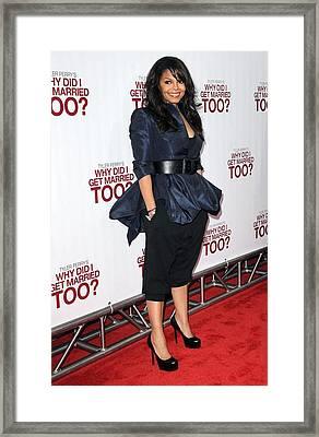 Janet Jackson Wearing An Alexander Framed Print by Everett