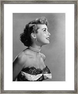 Janet Leigh, Ca. Early 1950s Framed Print by Everett