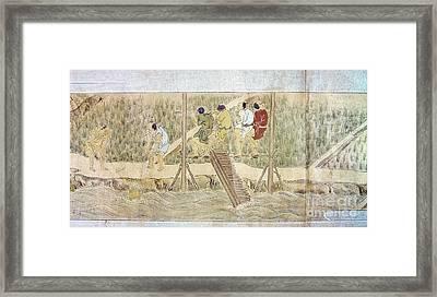 Japan: Irrigation, C1575 Framed Print by Granger