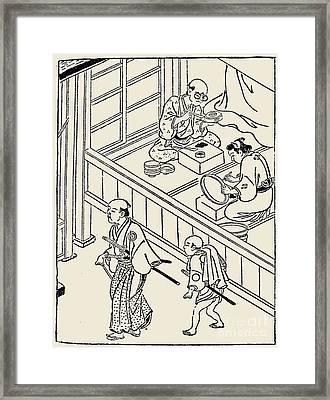 Japan: Samurai, 1700 Framed Print by Granger