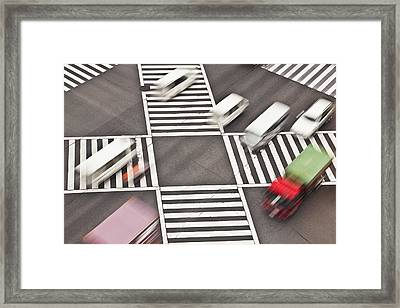 Japan, Tokyo, Shibuya Crossing, Elevated View Framed Print by Bryan Mullennix