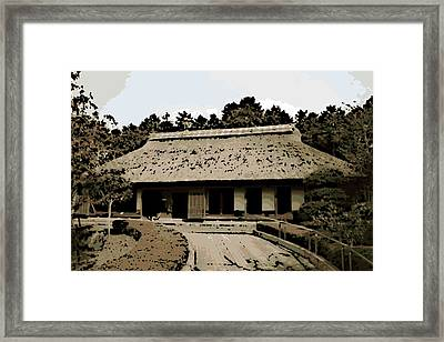 Japanese Architecture Framed Print by George Pedro