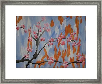 Japanese Cherry Blossoms Framed Print by Joanna Leack