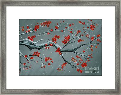 Japanese Cherry Blossoms Framed Print by Kat Beights