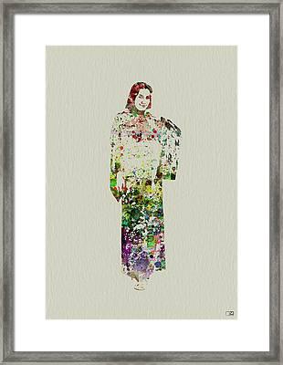 Japanese Woman Dancing Framed Print by Naxart Studio