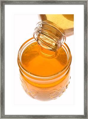 Jar Of Honey Framed Print by Garry Gay