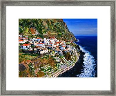 Jardim Do Mar Framed Print by Dean Wittle