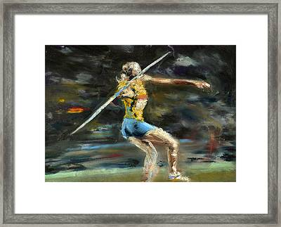 Javelin Thrower Framed Print by Paul Mitchell