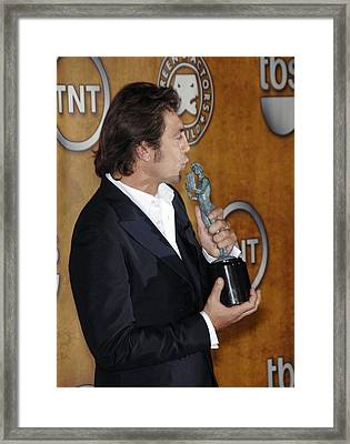 Javier Bardem At Arrivals For Press Framed Print by Everett