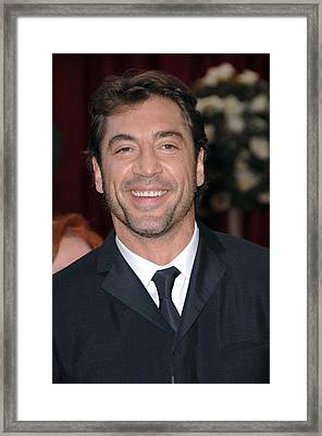 Javier Bardem Wearing A Prada Suit Framed Print by Everett