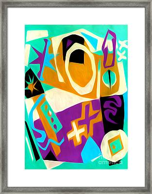 Jazz Art - 01 Framed Print by Gregory Dyer