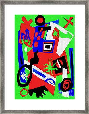 Jazz Art - 02 Framed Print by Gregory Dyer