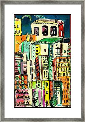 Jazz City Framed Print by Mindy Newman