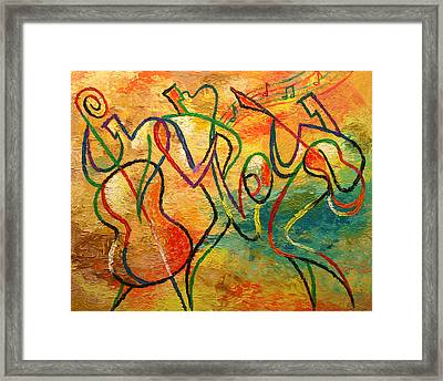 Jazz-funk Framed Print by Leon Zernitsky