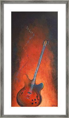 Jazz Guitar Framed Print by Bill Werle