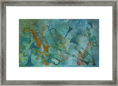 Jazz Improvisation One Framed Print by Jenny Armitage