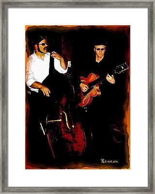 Jazz Musicians Framed Print by Sadie Reneau