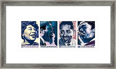 Jazz Portrait Series Part 1 Framed Print by Garth Glazier