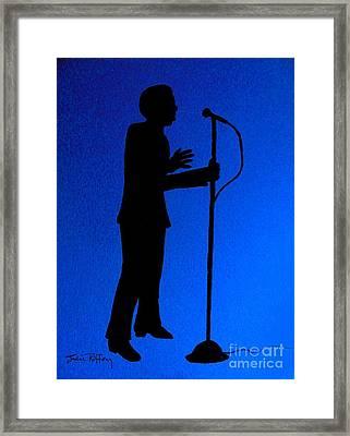 Jazz Singer Framed Print by Julie Brugh Riffey