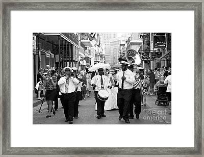 Jazz Wedding Framed Print by Leslie Leda