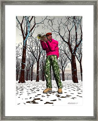 Jazzmas In The Park 2 Framed Print by Walter Oliver Neal