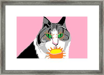 Jazzy Get Well Framed Print by Anita Dale Livaditis
