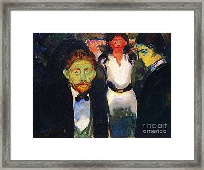 Jealousy Framed Print by Pg Reproductions
