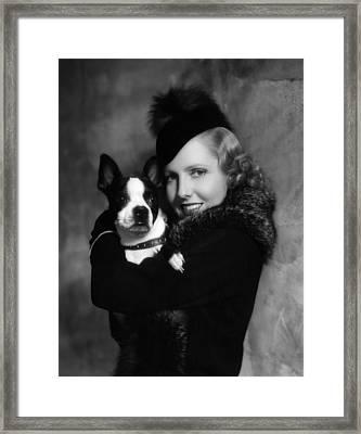 Jean Arthur With Boston Terrier, 1935 Framed Print by Everett