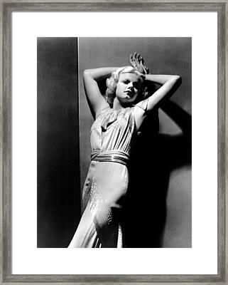 Jean Harlow, 1930s Framed Print by Everett