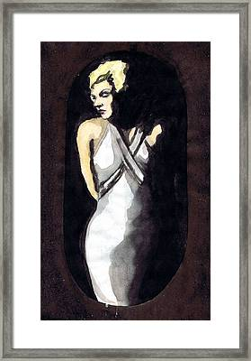 Jean Harlow 2 Framed Print by Mel Thompson