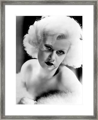 Jean Harlow, Ca. 1932-33 Framed Print by Everett