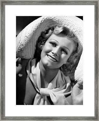 Jean Harlow, Ca. 1936-37 Framed Print by Everett
