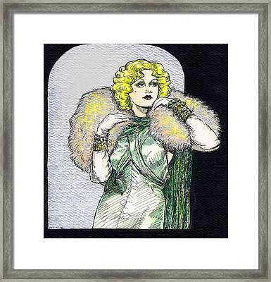 Jean Harlow Framed Print by Mel Thompson