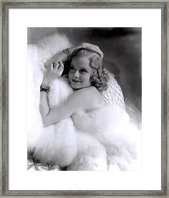 Jean Harlow, Mgm, 1930s Framed Print by Everett
