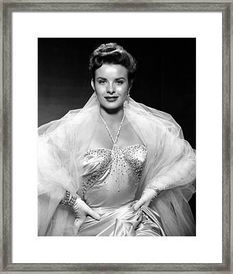 Jean Peters, Ca. Mid-1950s Framed Print by Everett