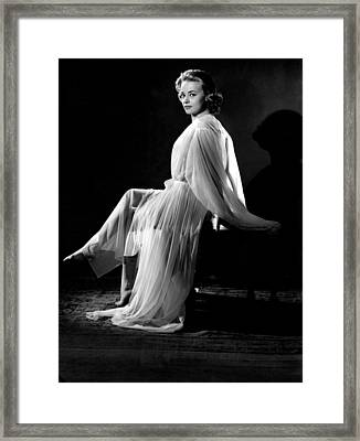 Jeanne Moreau, Ca. 1950s Framed Print by Everett