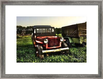 Jeep Seen Better Days Framed Print by Dan Friend