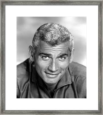 Jeff Chandler, Ca. Late 1950s Framed Print by Everett