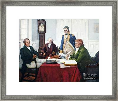 Jefferson & Dupont, 1801 Framed Print by Granger