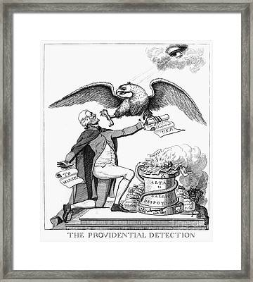 Jefferson: Cartoon, 1800 Framed Print by Granger
