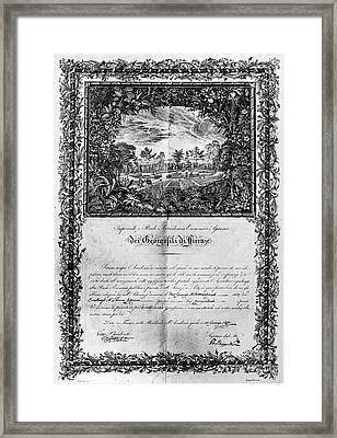 Jefferson: Degree, 1820 Framed Print by Granger