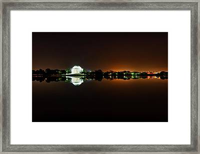 Jefferson Memorial Before Sunrise 1 Framed Print by Val Black Russian Tourchin