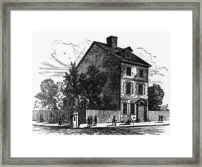 Jeffersons House, 1776 Framed Print by Granger