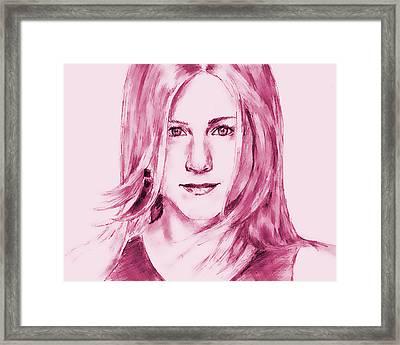Jennifer Aniston Framed Print by Attila Dancsak