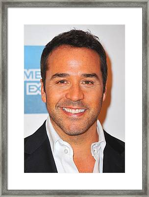 Jeremy Piven At Arrivals For Angels Framed Print by Everett