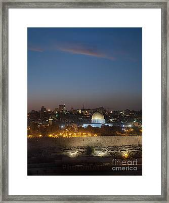 Jerusalem And The Dome Of The Rock Framed Print by Noam Armonn