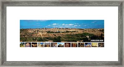 Jerusalem Poster Framed Print by Munir Alawi