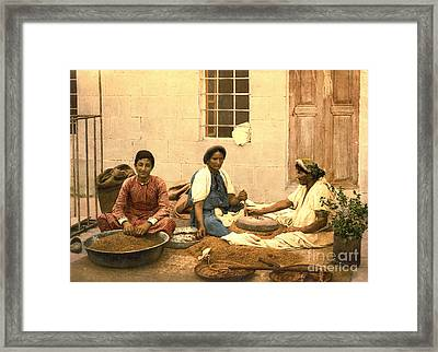 Jerusalem Women Grinding Corn 1895 Framed Print by Padre Art